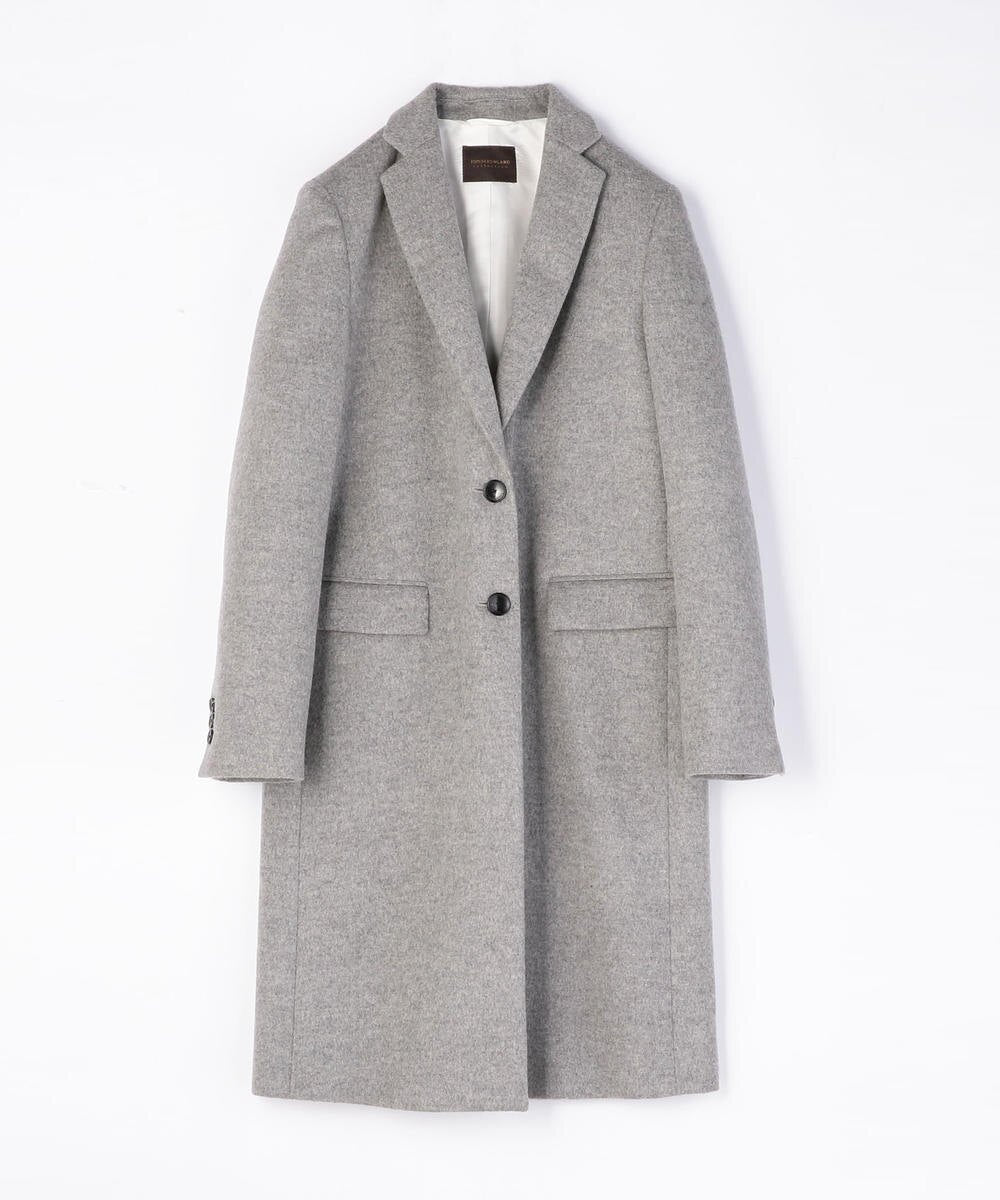 Wool Cashmere Beaver Notched Collar Chester Coat