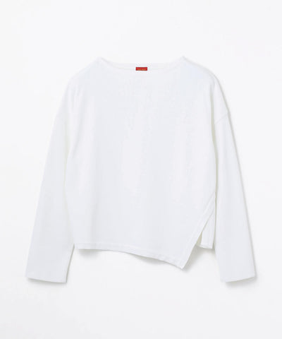 Des Pres Polyester smooth boatneck pullover in white