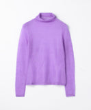 Transparent Mohair Turtleneck Pullover Knit