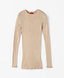 DES PRÉS  Silk rib Crew Neck Pullover available in 3 colors