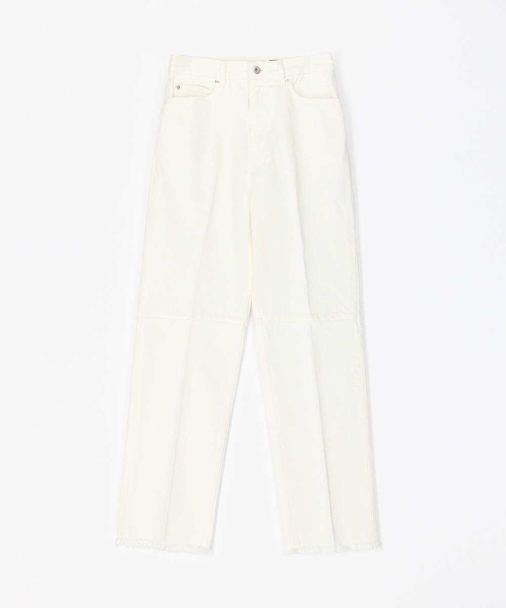 DES PRÉS Cotton denim high waist straight pants