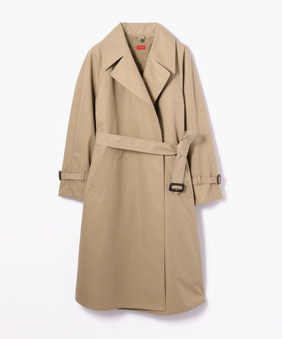 Des Pres Cotton Polyester Trench Coat Brown