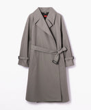 Des Pres Cotton Polyester Trench Coat Gray
