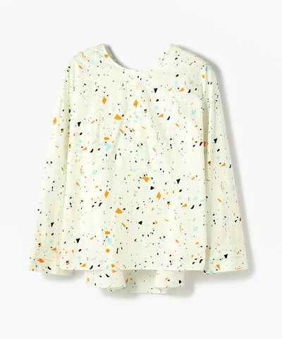 Galerie Vie Cotton Stretch Crew Neck Blouse Print