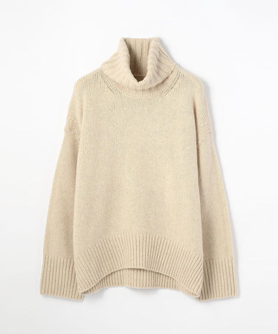 Galerie Vie Fine Wool High Neck Pullover Knit Sweater