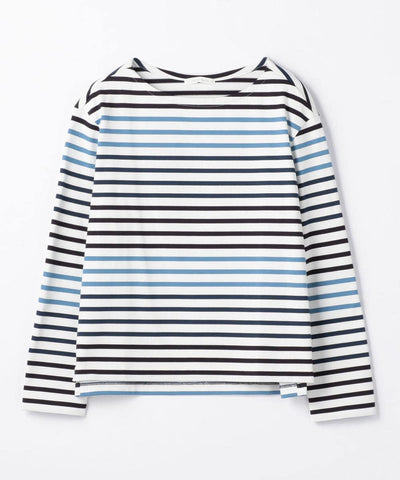 GALERIE VIE Cotton jersey boat neck pullover