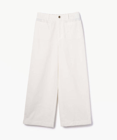 Galerie Vie Cotton Silk Marine Pants White