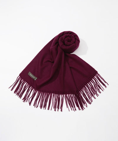 TOMORROWLAND cashmere scarf in Dark Red