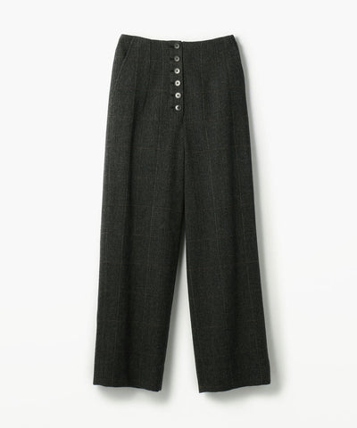 BACCA Wool herringbone check wide pants