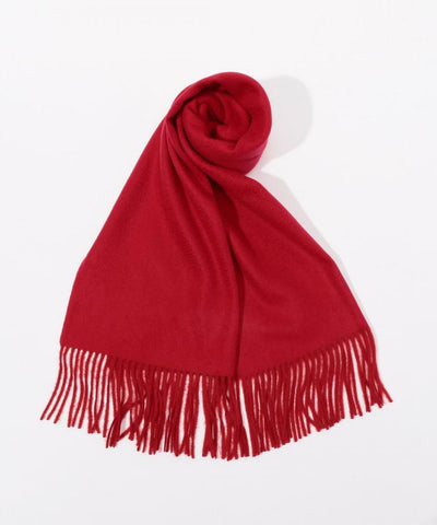 Cashmere solid color scarf Red