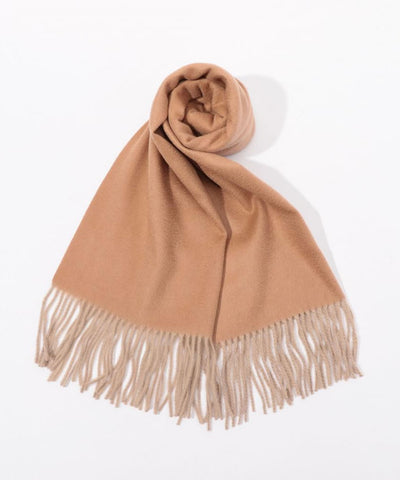 Cashmere solid color scarf Brown