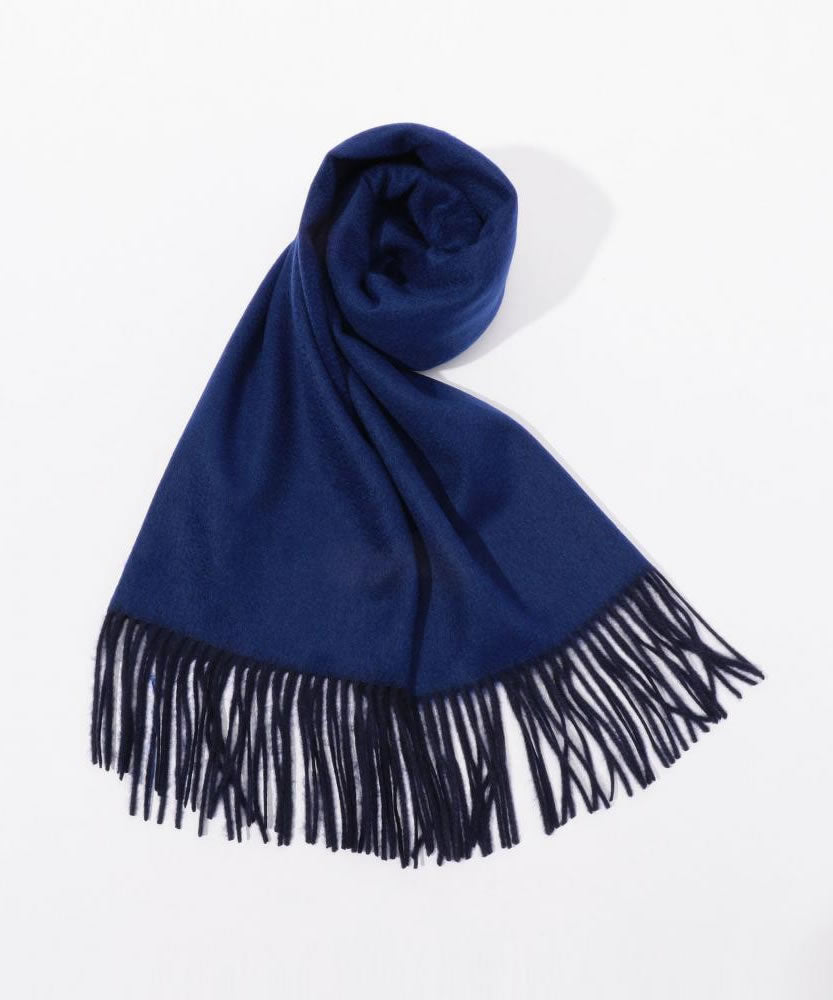 Cashmere solid color scarf Blue