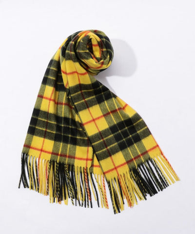TOMORROWLAND Cashmere check scarf Yellow