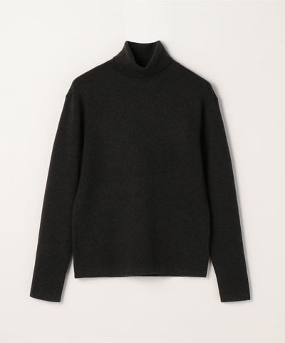 CABaN Cotton cashmere turtleneck pullover Charcoal Gray