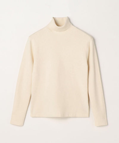 CABaN Cotton cashmere turtleneck pullover Light Beige