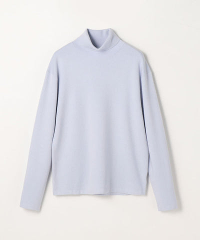 CABaN Cotton cashmere turtleneck pullover Light Blue
