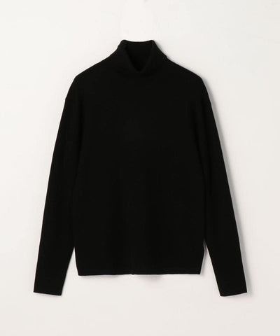 CABaN Cotton cashmere turtleneck pullover Navy Blue