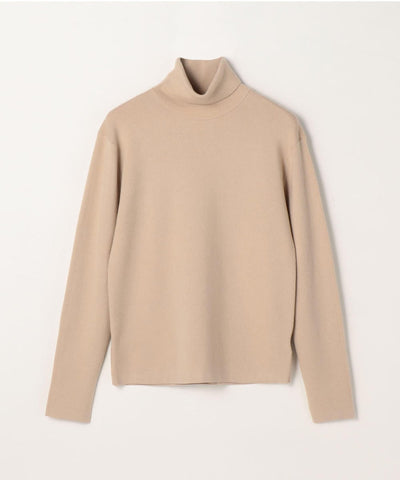 CABaN Cotton cashmere turtleneck pullover Beige