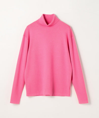 CABaN Cotton cashmere turtleneck pullover Pink