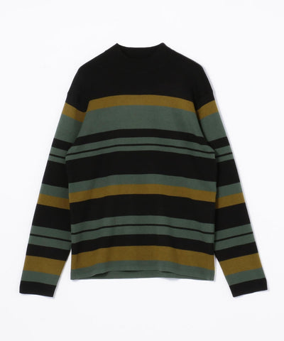 CABaN Cotton cashmere multi-border pullover Black