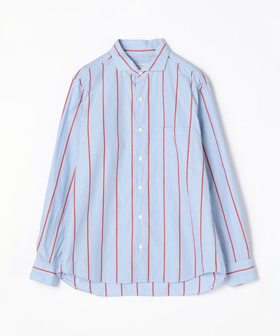 TOMORROWLAND Cotton Stripe Horizontal Collar Shirt - available in multiple colors