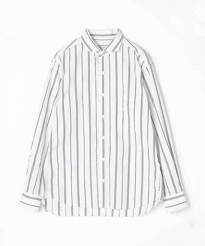 TOMORROWLAND Cotton Dobby Stripe Horizontal Collar Shirt