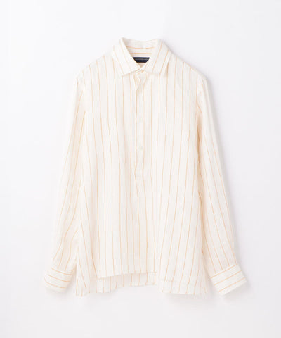 Color Stripe Long Sleeve Shirt Orange
