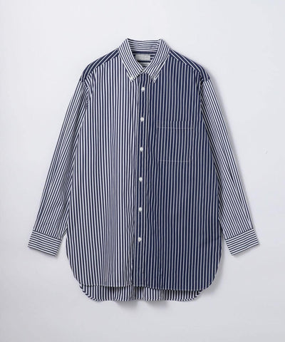 British poplin oversized button down shirt Thomas Mason
