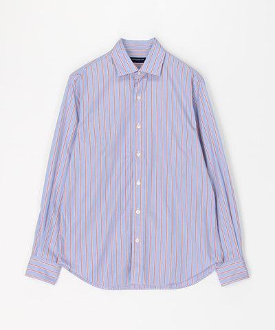 British poplin semi-wide color shirt