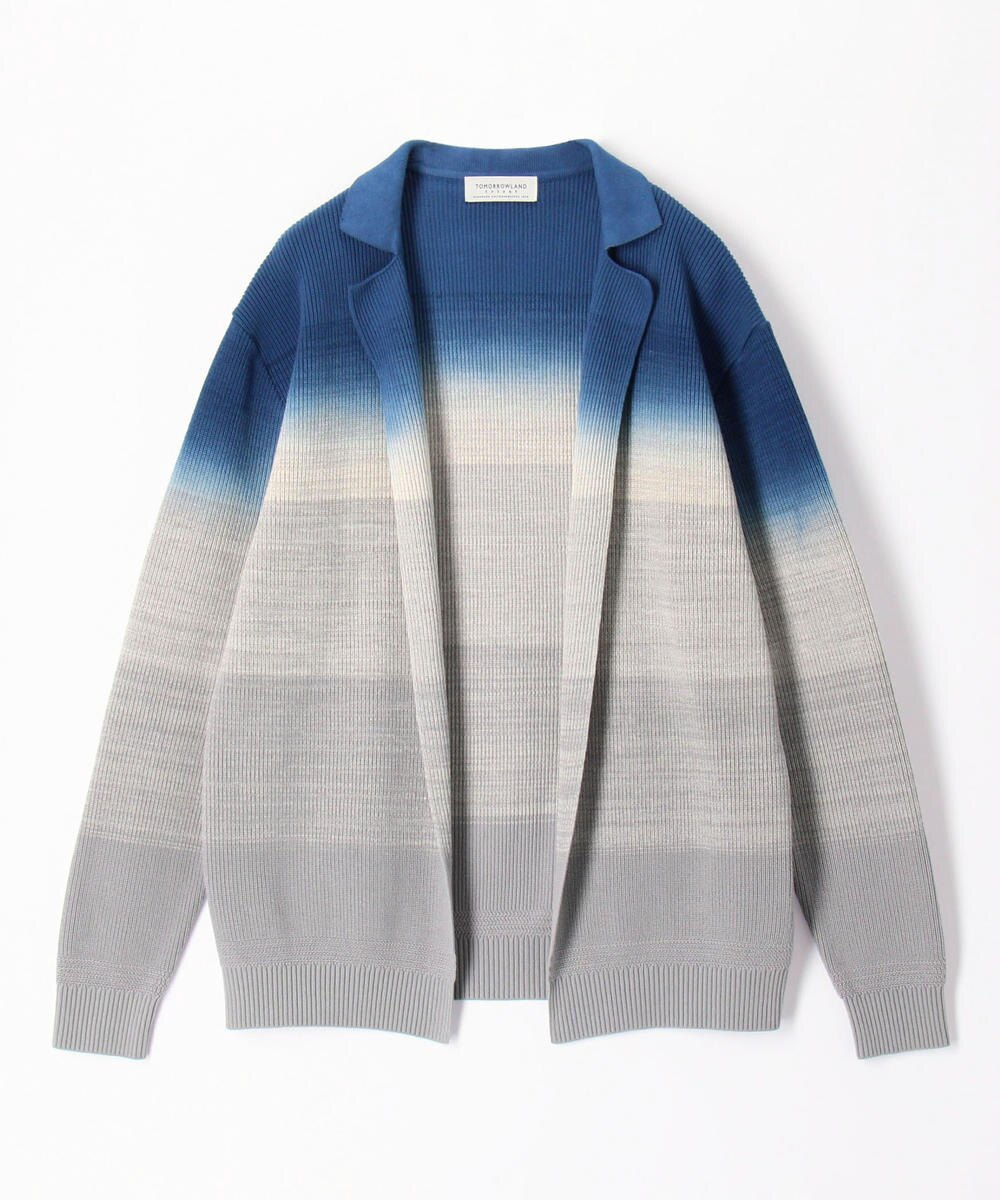 TOMORROWLAND MENS Gradient dye buttonless cardigan