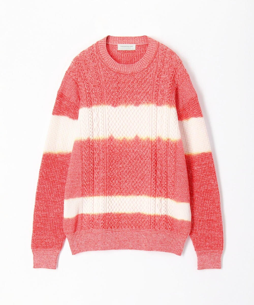 TOMORROWLAND MENS Tie dye crew neck cable knit
