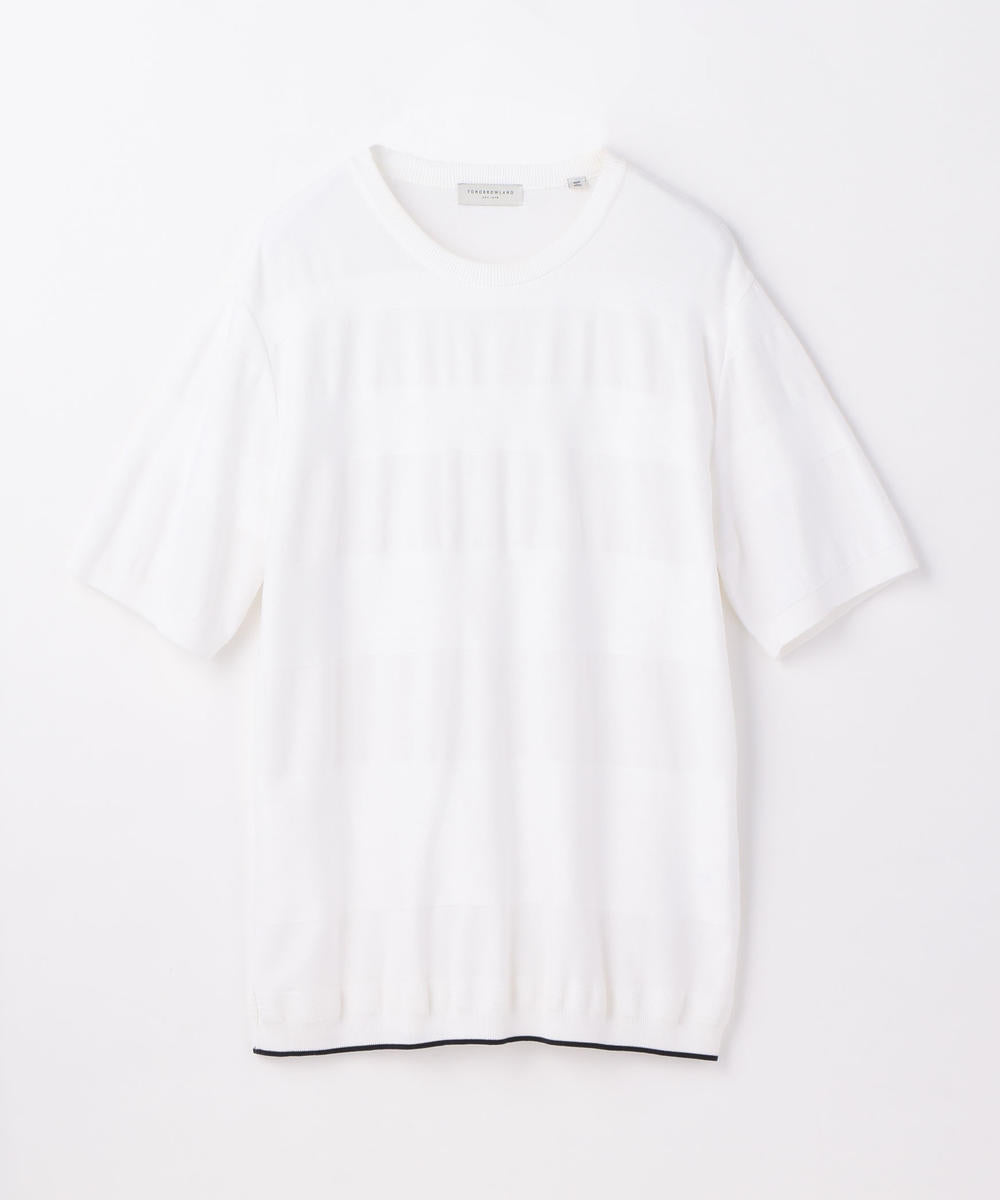 Tricot T Shadow Stripe White
