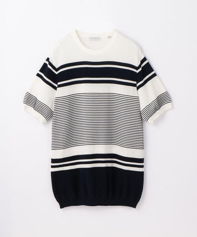 Tricot T Alternate Stripe Black and White