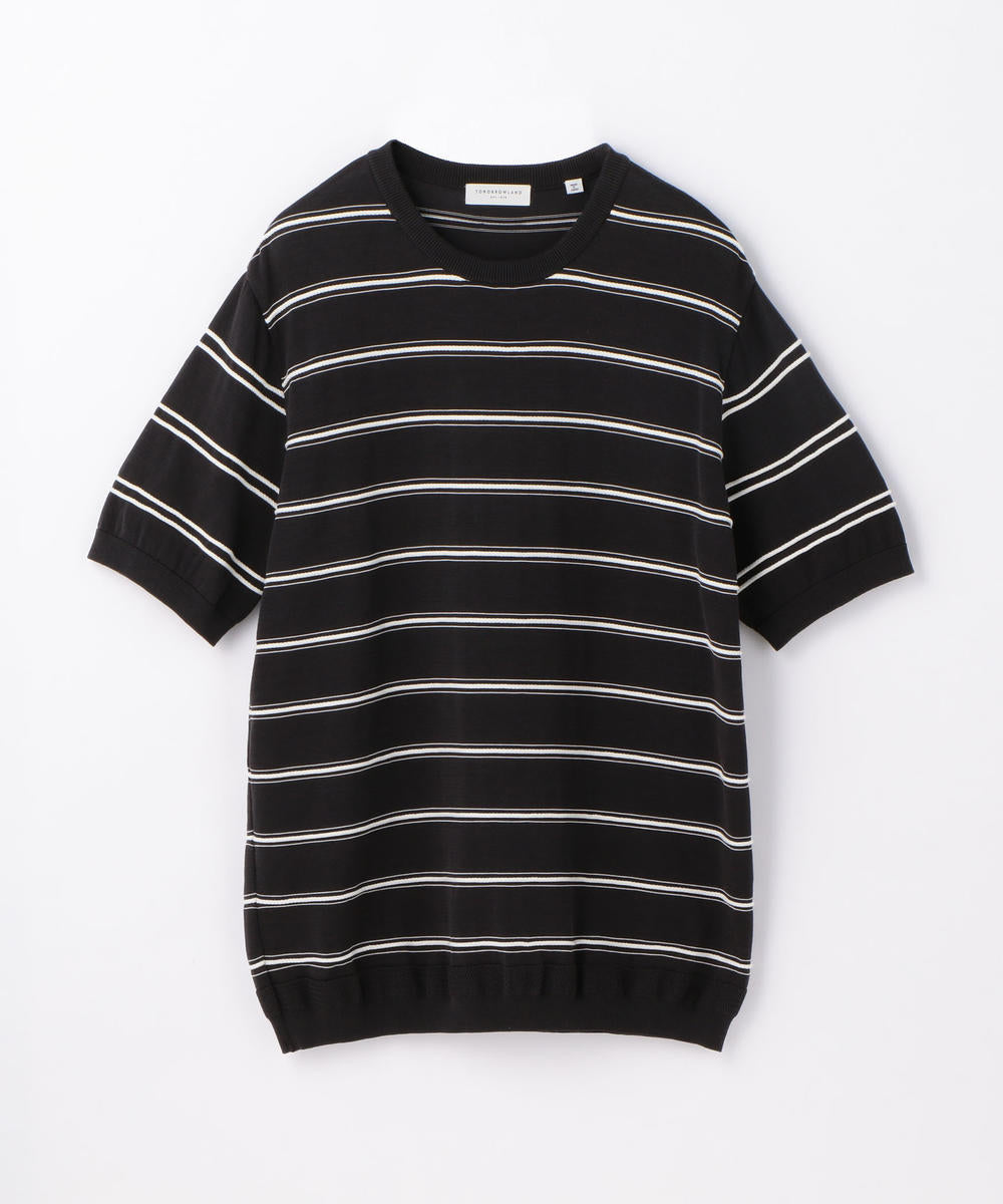 Tricot T Rope Stripe Black and White