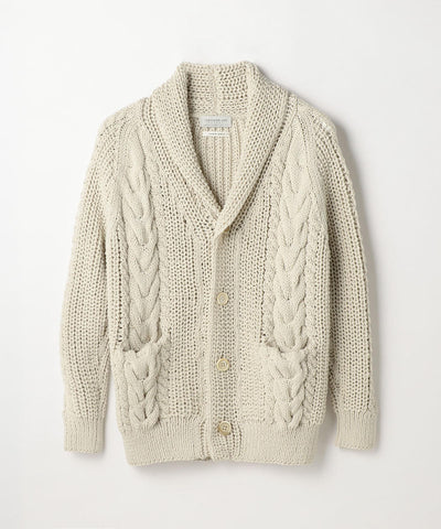 Air Stretch Shawl Cardigan Light Gray