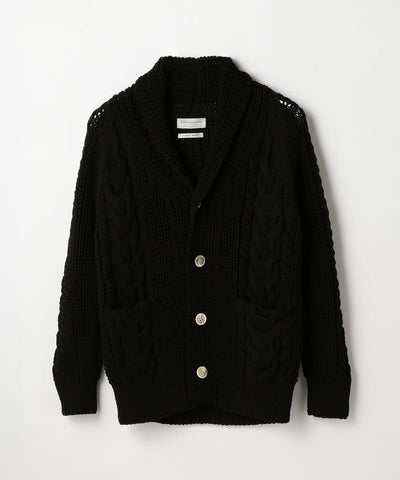 Air Stretch Shawl Cardigan Light Black