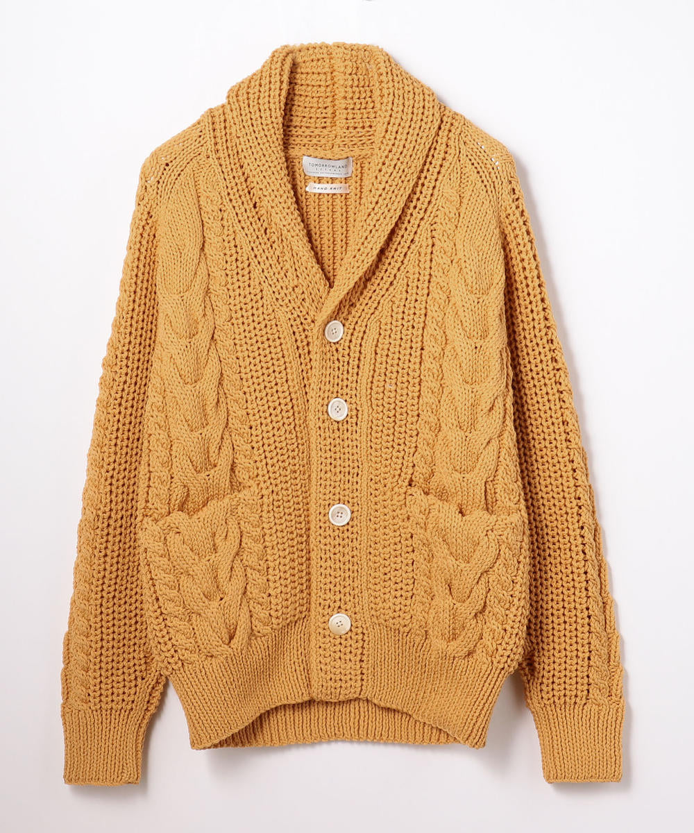 Air Stretch Shawl Cardigan Light Orange