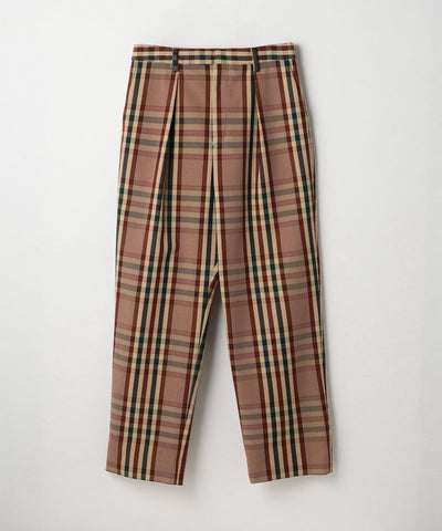 Cordura Plaid Tack Wide Pants