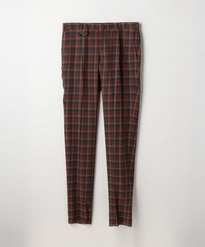 Crepe Blue Wool Pants