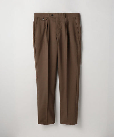 Mohair Blend Tropical Pants Brown