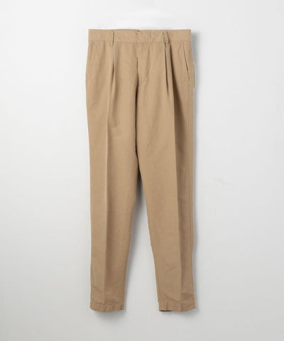 TOMORROWLAND Cotton Linen Taffeta Single Pleat Tapered Pants available in multiple colors