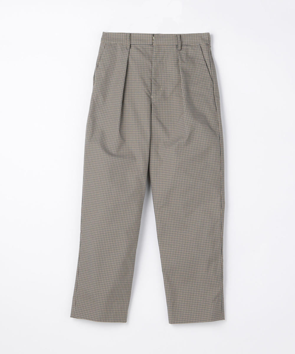 Nylon Polyester 1 Pleated Wide Easy Pants