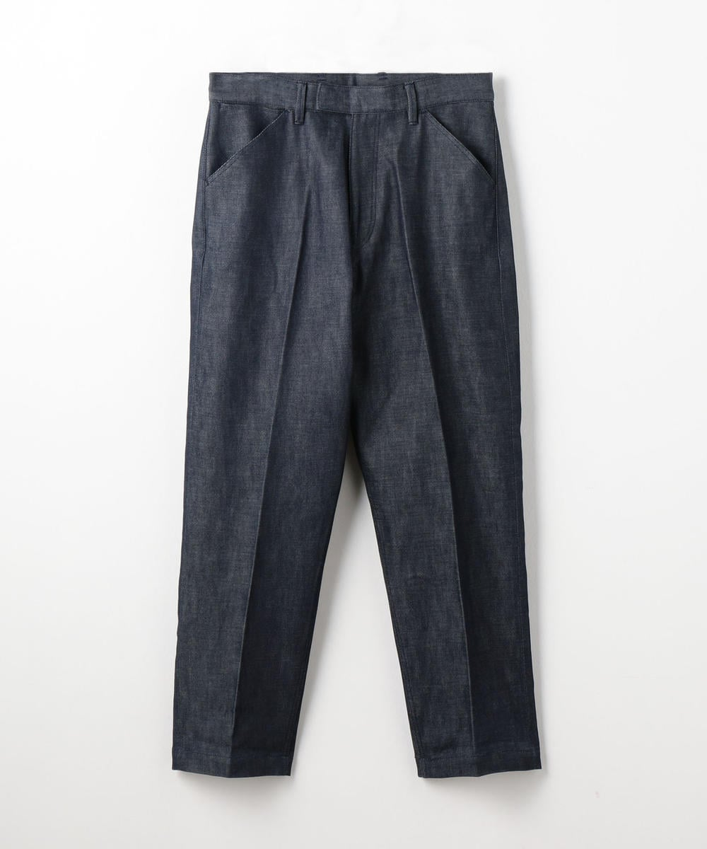 Cotton Denim Tapered Pants