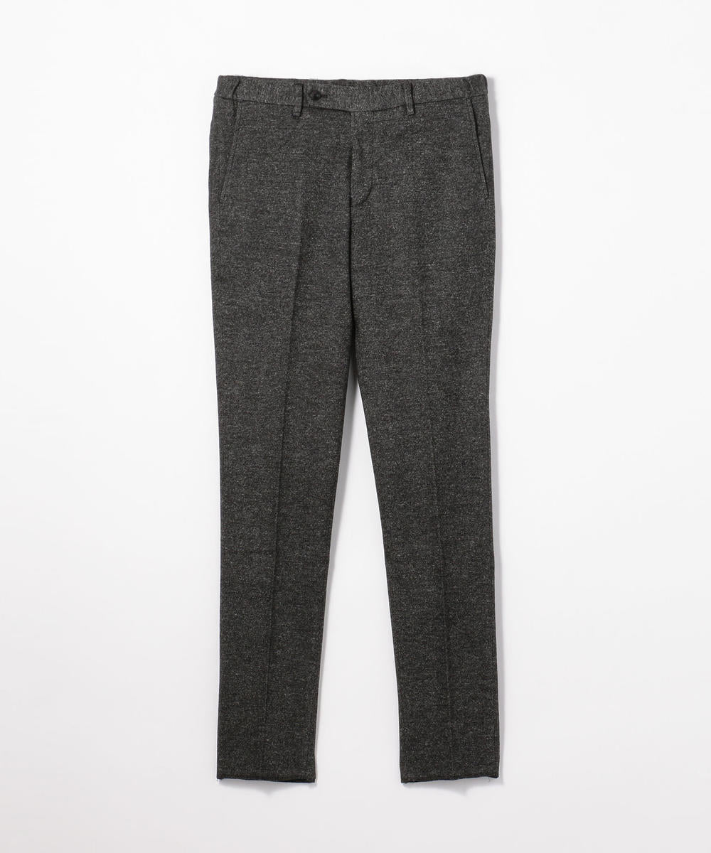 63049504354 TOMORROWLAND Wool Cotton Double Jacquard Easy Slacks - Charcoal Grey 17