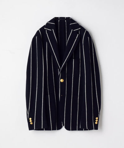 TOMORROWLAND Super120's Geelong Wool Russell Stepped 3B Blazer Jacket