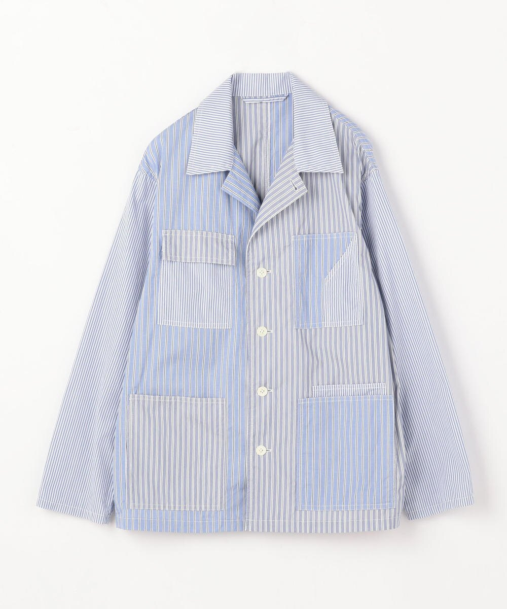 Multi Patch Thomas Mason Shirt Jacket