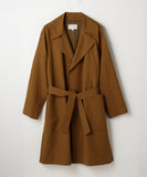 Cotton Linen Kersey Coat Brown