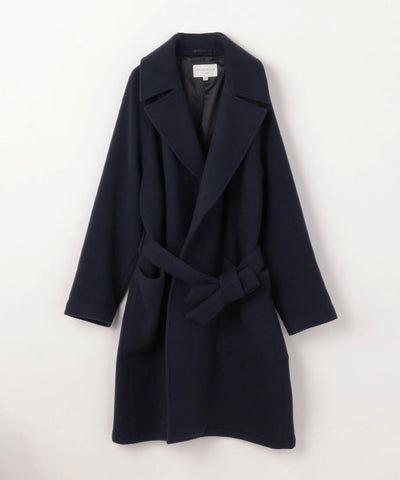 TOMORROWLAND Geelong wool Double Face Buttonless wrap Coat
