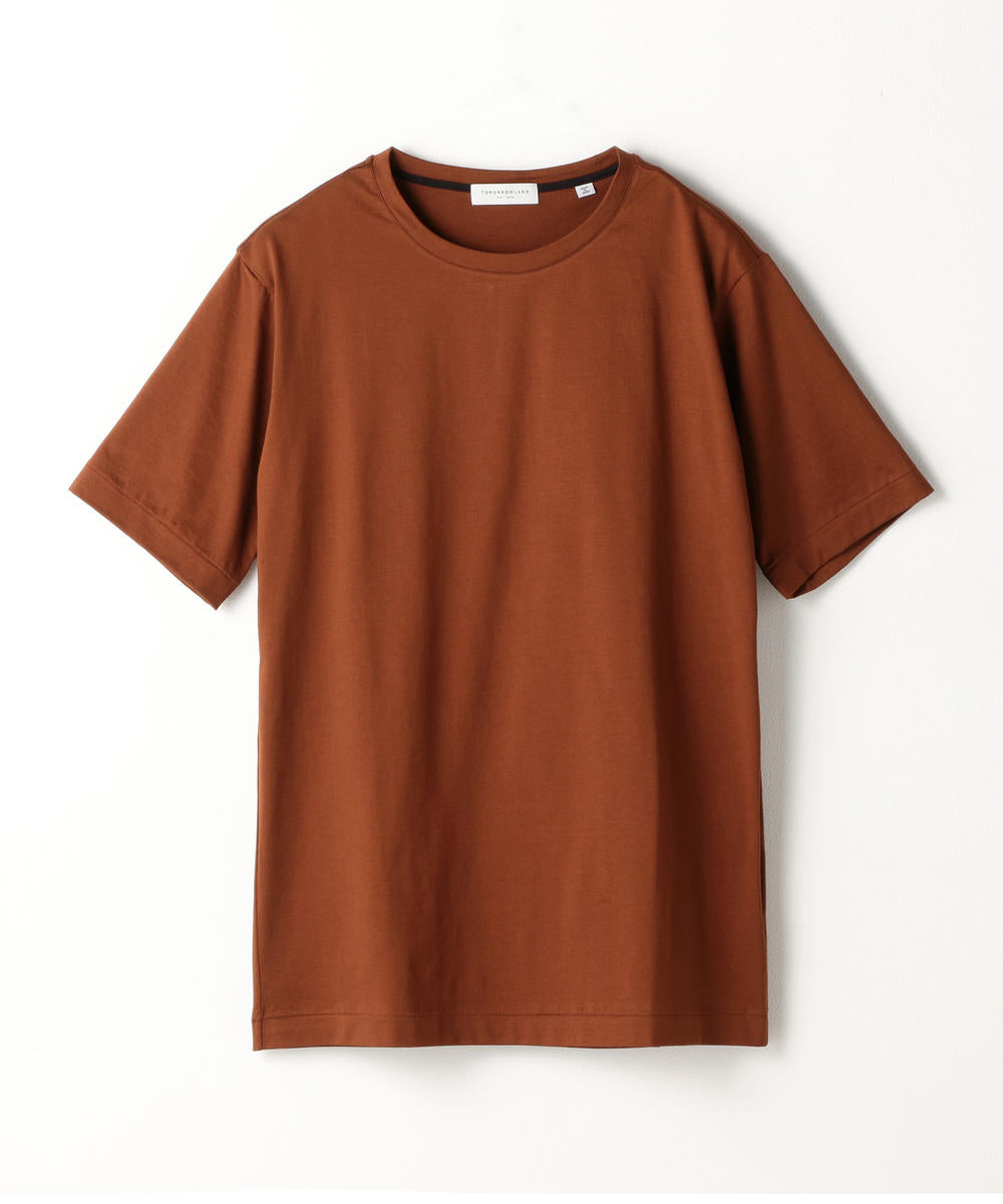 Suvin Cotton Purity Jersey T-Shirt Brown