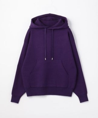 CABaN Cotton Cashmere Blend Pullover Parka Purple